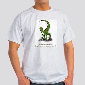 Adorable Velociraptor Ash Grey T-Shirt